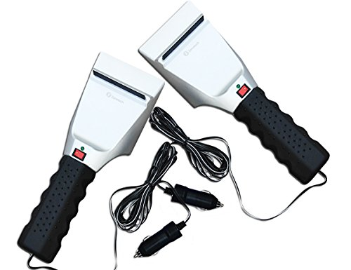 Zone Tech Pack of 2 Winter Premium Quality 12 Volt Electric Snow and Ice Scraper-Non Scratch (Plug In Snow Blower compare prices)