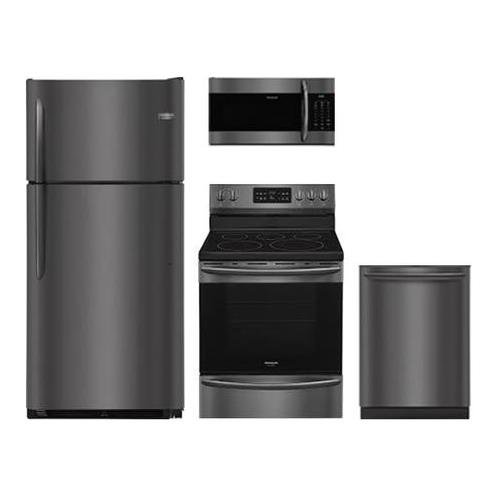(Frigidaire 4-Piece Black Stainless Stee Kitchen Package with FGTR1842TD 30