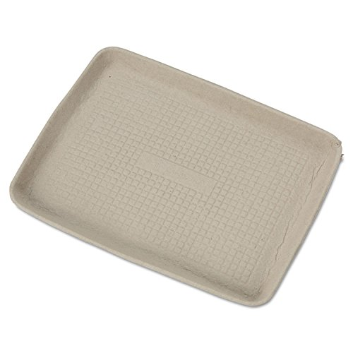 Chinet StrongHolder Molded Fiber Food Trays, 9 x 12 x 1, Beige, 250/Carton