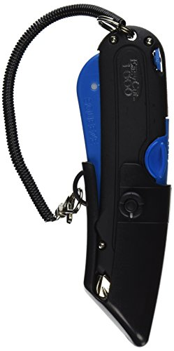Garvey 091524 Safety Cutter with Holster, Black/Blue