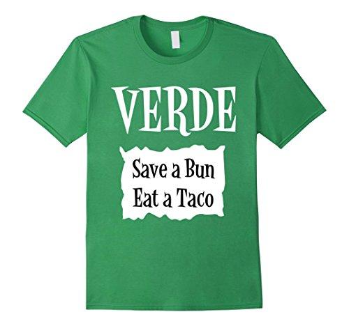 Mens Verde Green Sauce Packet Shirt - Halloween Costume T-Shirts Large (Coworker Halloween Costumes)