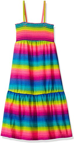 The Children's Place Big Girls' Smocked Tier Dress, Neon Lilac, Medium/7/8
