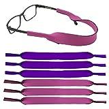 6 Pack Kids Eyewear Retainer Sports Sunglass Holder Straps Eyeglasses String