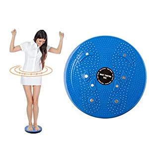 Flyme Torsion Twist Board Disc- Weight Loss Aerobic Exercise Fitness and Muscle Toning Aid- Colour Blue