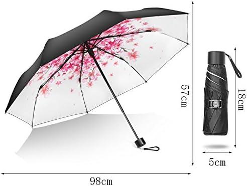 Color : C Fashion Home ZHILIAN Umbrella Parasol Sunscreen UV Protection Sunshade Fold Sunny Day Rainy Day Dual-use Ultralight Five Folding Umbrella Optional Color