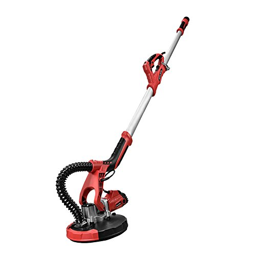SUNCOO Commerical Electric Drywall Sander Variable Disc Sanding Pole Toosl Adjustable Speed Sanding with LED Light 750W Red by SUNCOO (Image #5)