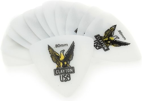 Clayton RT80 0.80mm Acetal Guitar Picks, 72-Pack (Guitar Pick Usa)