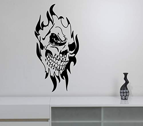 Evil Clown Skull Wall Vinyl Decal Scary Jester Vinyl Sticker Sinister Circus Halloween Art Best Horror Decorations for Home Room Bedroom Decor Made in USA Fast Delivery]()