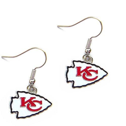 - aminco Kansas City Chiefs Dangle Logo Earring Set Charm Gift