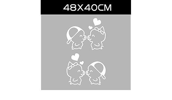 JIAOGU HOME 1 Par de Etiqueta de La Puerta Del Coche de Dibujos Animados Divertido Creativo Pegatinas de Coche Personalidad de Cerdo Decoración Del Cuerpo Pegatinas Modificado Reflexivo Pegatinas de C: Amazon.es: