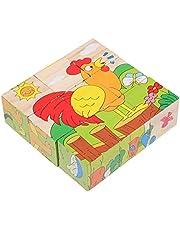 TOYANDONA 3D Houten Jigsaws Puzzels Boerderij Dieren Puzzels Speelgoed Kids Peuter Vierkante Puzzel Veilig Onderwijs Leren Intelligentie Speelgoed