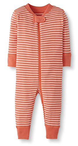 Moon and Back by Hanna Andersson Baby/Toddler One-Piece Organic Cotton Footless Pajamas, Coral Stripe, Newborn from Moon and Back by Hanna Andersson