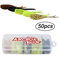 RUNCL Anchor Box - Soft Jerk Baits, 50pcs Jerk...