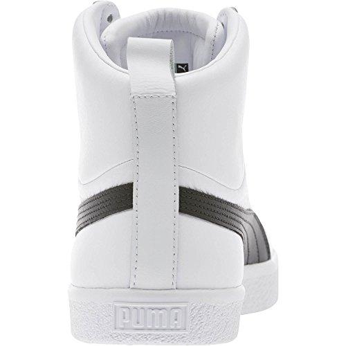 Puma Mænds Clyde Midten Kerne Folie Sneaker Puma Hvid / Puma Sort lVzkp