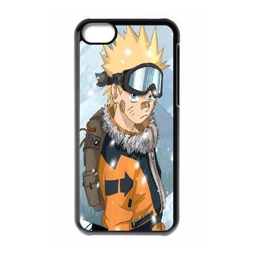 K3I18 Naruto F6G4PS cas d'coque iPhone de téléphone cellulaire 5c couvercle coque noire HX3KGD4SO