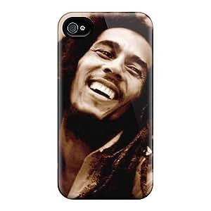 Best Hard Phone Cases For Iphone 4/4s (Vdj573gLNn) Customized Stylish Bob Marley Image