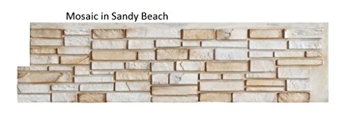 """Easy Rock 81192 Simulated Stone Panel 12"""" x 48""""Mosaic in Five Different Colors (Rock Simulated)"""