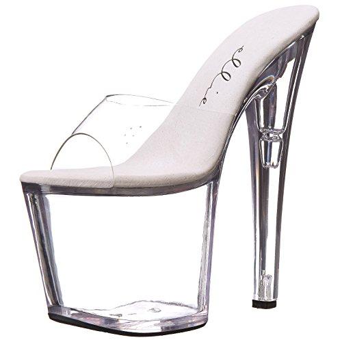 8 Inch Damesschoenen s Avonds Sexy Platform Slip Op Dias Sandalen Duidelijk Zwart Duidelijk