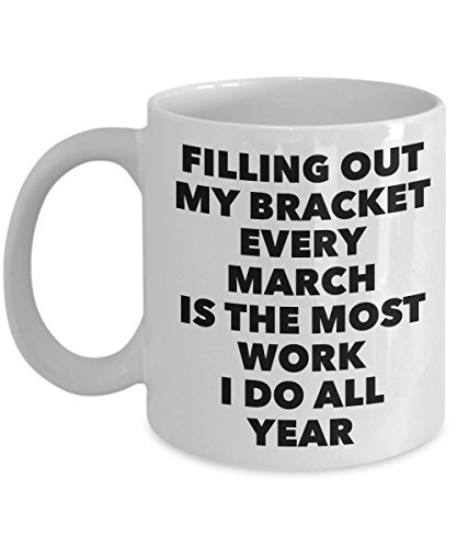 March Madness Mug - NCAA Basketball Tournament Bracket Gag Gift - Family or Co-worker Bracket Challenge Trophy - Gonzaga UNC Oregon South Carolina College Basketball