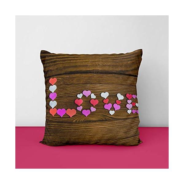 41Nl99BKr4L Love Wood Square Design Printed Cushion Cover