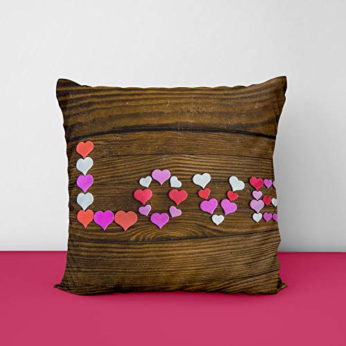 41Nl99BKr4L Love Wood Square Design Printed Cushion Cover