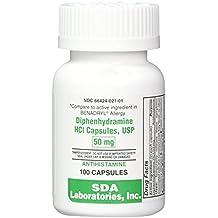Diphenhydramine HCL [Compare to Benedryl] 50 mg, 100 Capsules