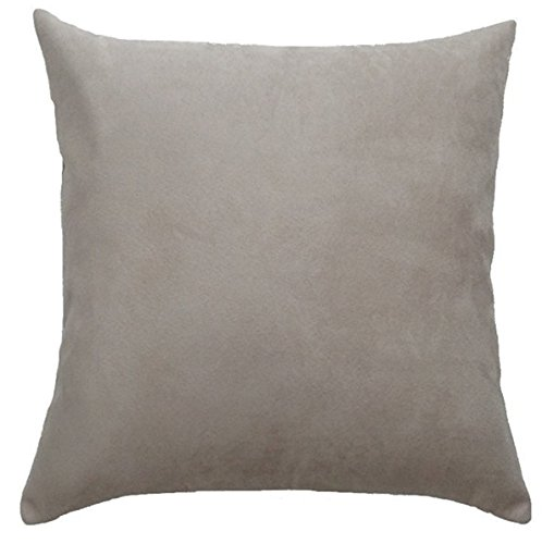 DreamHome 24 X 24 Inches Faux Suede Decorative Euro Pillow C