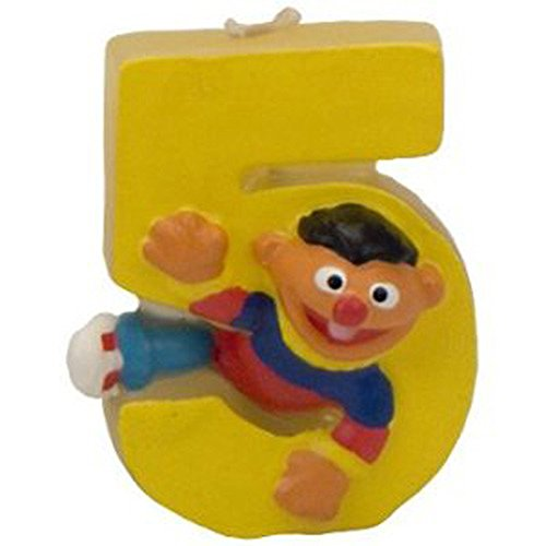 (Sesame Street Ernie 5th Birthday Sculpted Cake Candle (1ct))