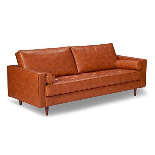 Ashton Vintage Leather Sofa, Vintage Tan (Ashton Upholstery)