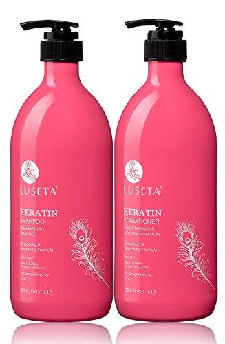 Luseta Keratin Smooth Shampoo & Conditioner Set (Scents Keratin Smooth, 2*33.8oz) from L LUSETA