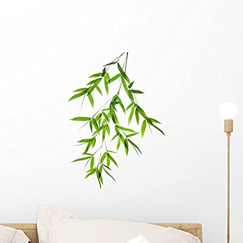 Wallmonkeys Branch of Bamboo Peel and Stick Wall Decals WM133801 (18 in H x 12 in W) - Bamboo Wall Decals