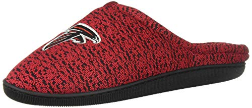 FOCO NFL Carolina Panthers Men's Poly Knit Cup Sole Slipper, Team Color, Large (11-12)