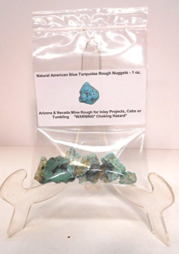 Premium Natural American Turquoise Rough Nuggets for Inlay,Cabs,Tumbling & Collecting - 28 grams (1 oz)