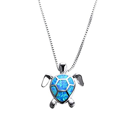 Chritmas Blue Turtle Necklace Women's 9...