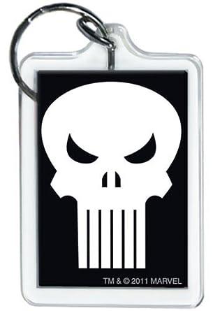 Amazon.com: Marvel Comics Punisher Logo Llavero: Clothing