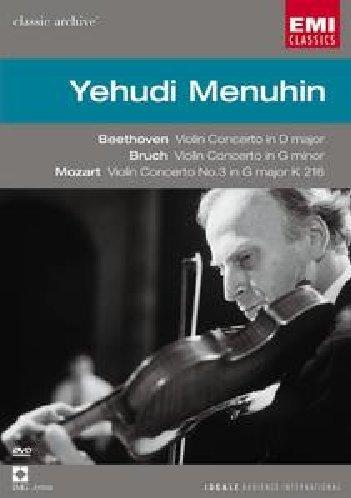 Beethoven Violin Concerto & Bruch Violin Concerto No. 1 & Mozart Violin Concerto No. 3 / Yehudi Menuhin (Violin Concerto Dvd)