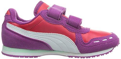 Puma Cabana Racer SL V Kids - Zapatillas infantil Violeta - Violett (vivid viola-geranium-white 32)