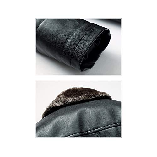 Risvolto Easy Nuovo Unita Tinta Shopping Più Dimensioni Uomo In Velluto Grandi Autunno Di E Inverno Pelle Black Go qrBFOqwxp