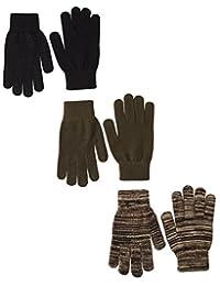 Quietwear Men's 3-Pair Pack Grip Dot Assorted Gloves