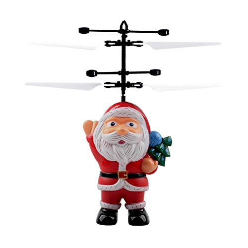 BiuBuy Christmas Flying Ball Toy Santa Claus Helicopter Flying Santa Claus Electric Infrared Suspension Smart Sensor Flying Toy for Children Kids Gifts (A#)