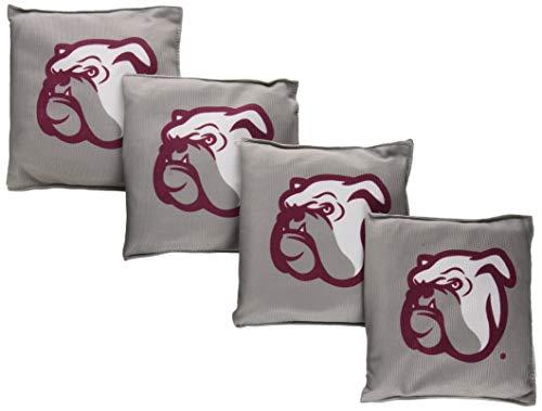 Wild Sports NCAA College Mississippi State Bulldogs Gray Authentic Cornhole Bean Bag Set (4 -