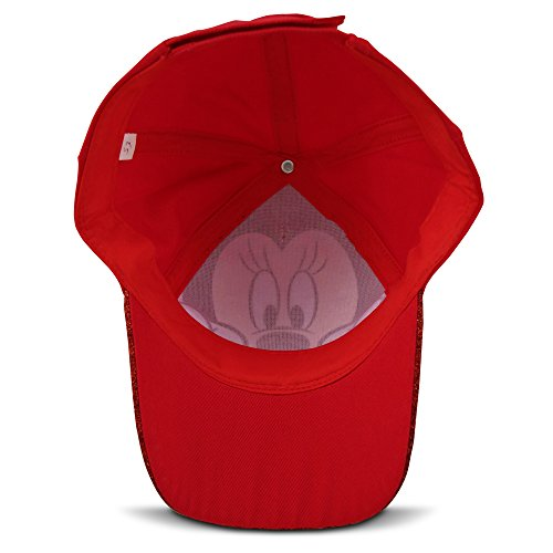 Disney Little Girls Minnie Mouse Character Cotton Baseball Cap, Age 2-7 (Little Girls - Age 4-7 - 53CM, Red) by Disney (Image #5)