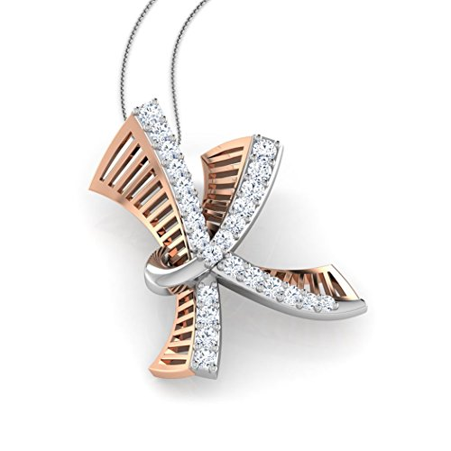 Or Rose 14K 0,13CT TW Round-cut-diamond (IJ | SI) Pendentif