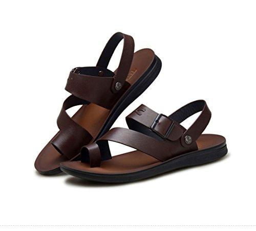Brown Playa Zapatillas Sandalias De Lona Aletas Para Hombres Awx0xFW