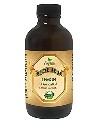 LEMON ESSENTIAL OIL 4 OZ Organic Therapeutic Grade A Wellness Relaxation 100% Pure Undiluted Steam Distilled Natural Aroma Premium Quality Aromatherapy diffuser Skin Hair Body Massage