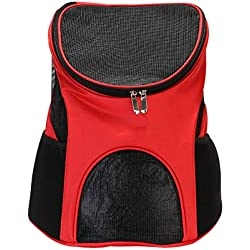 ZIXUN Premium Pet Carrier Backpack for Small Cats and Dogs Ventilated Design, Safety Strap, Support Designed for Travel Outdoor Use