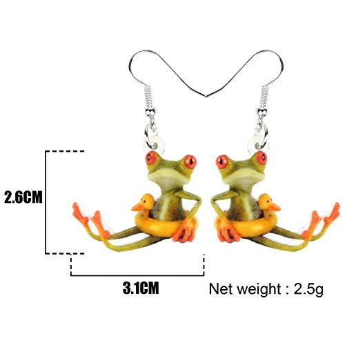 IUTING Acrylic Cute Duck Buoy Frog Earrings Dangle Drop Big Long Cartoon Animal Jewelry for Women Girls Teen Fashion Charms Gift