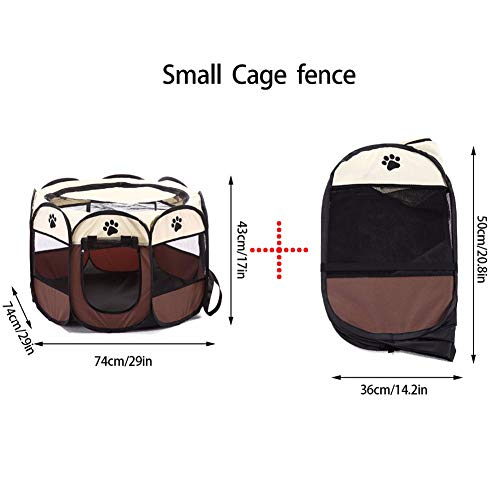 KINJOHI Portátil Mascota Parque Plegable Perros Gatos Interior Exterior Caseta Desmontable Malla Cubierta: Amazon.es: Productos para mascotas