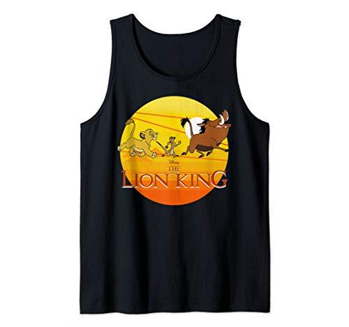 (Disney The Lion King Simba Timon And Pumba Sunset Tank Top)