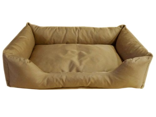 CPC Brutus Tuff 42 x 30 x 10-Inch Kuddle Lounge for Dogs and Cats, X-Large, Khaki